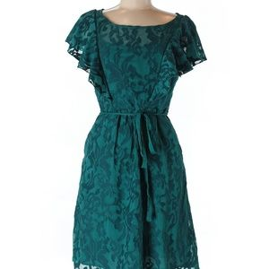 Moulinette Soeurs Print Teal Dress